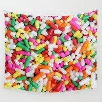 sprinkles Wall Tapestries featuring Sprinkles by Beastie Toyz