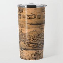 Map Of Vancouver 1890 Travel Mug