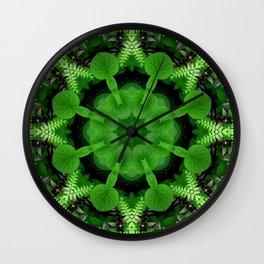 Fern and friends kaleidoscope, mandala - Maidenhair, Adiantum 900 kal 16 Wall Clock