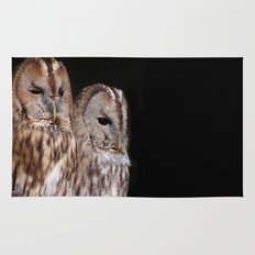 Tawny Owls in Nature Rug