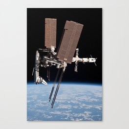 Endeavour docked to ISS Canvas Print