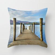 Derwent Water Pier Throw Pillow