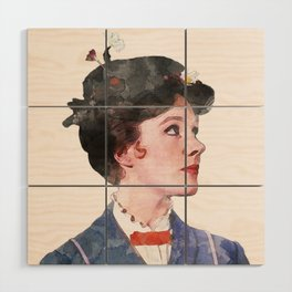 Mary Poppins - Watercolor Wood Wall Art