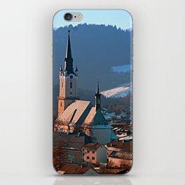 City church in winter wonderland | landscape photography iPhone Skin