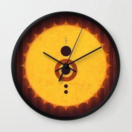 Sol System - The Milky Way Wall Clock