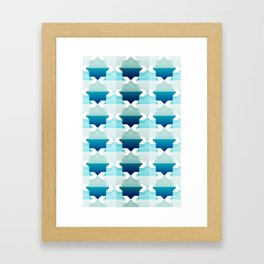 teal pattern Framed Art Print