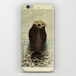 Otter in Love iPhone Skin