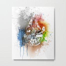 Millennium falcon #on white Metal Print