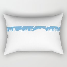 Find your angle_Travel_MonoBlue Rectangular Pillow