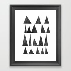 Mountains and Triangles Framed Art Print