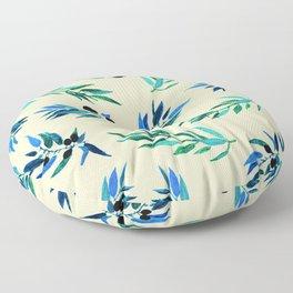 Olive leaves beige Floor Pillow
