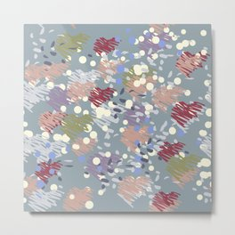 Abstract blue spotty confetti Metal Print