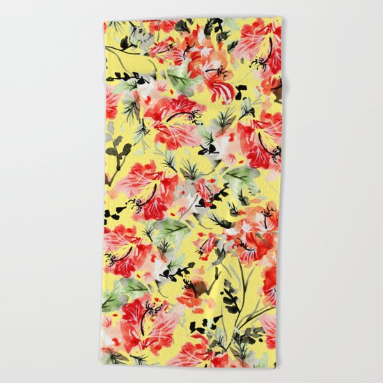 Happiness #society6 #decor #buyart Beach Towel