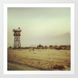 Manzanar Watchtower Art Print