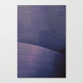 Architectural abstract of the home of the LA Philharmonic in blue and rose. Architect: Frank Gehry Canvas Print