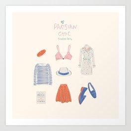 Parisian Chic: Starter Pack Art Print