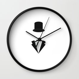 top-hat and smoking Wall Clock