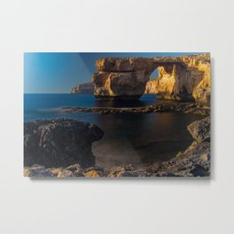 Azure Window Metal Print
