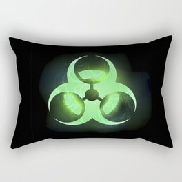 Green Biohazard Symbol Rectangular Pillow