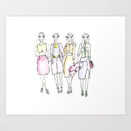 Spring Pastels Art Print