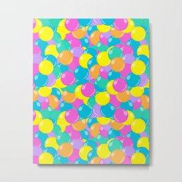 Pastel Rainbow Round Candy – Ball Pit Metal Print