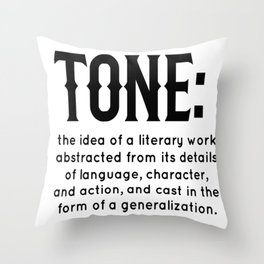 Tone defined Throw Pillow