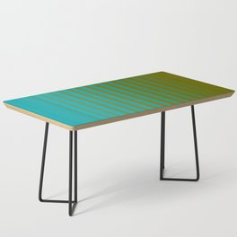 gradient stripes aqua olive Coffee Table