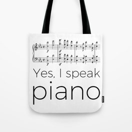 I speak piano Tote Bag