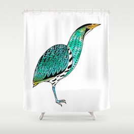Botaurus Stellaris | Endangered Birds Collection Shower Curtain