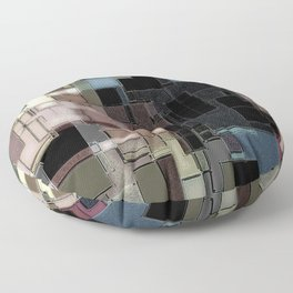 Subdued abstract Floor Pillow