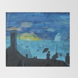 london view Throw Blanket