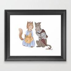 housecats gossip Framed Art Print