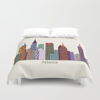 atlanta Duvet Covers featuring Atlanta city  by bri.buckley