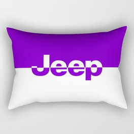 Jeep 'LOGO' Purple Rectangular Pillow