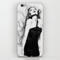 lindsay lohan iPhone & iPod Skins featuring Lindsay by J. Nicole