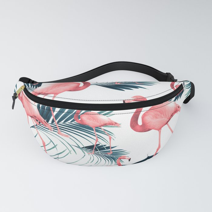 Summer Flamingo Palm Vibes #1 #tropical #decor #art #society6 Fanny Pack