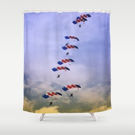 RAF Falcon Stack Formation Shower Curtain