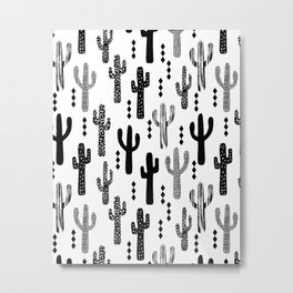 Cactus desert southwest palm springs festival house plant succulent terrarium tribal native nature  Metal Print