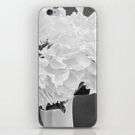 Peony Drama ~ B&W Accented Edges iPhone Skin