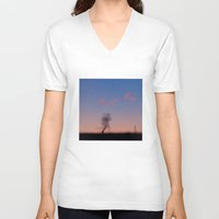 running V-neck T-shirts featuring Running by Tanja Riedel