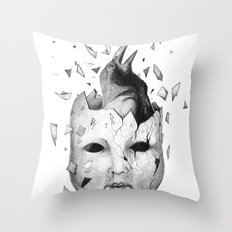 i will take off my old skin  Throw Pillow