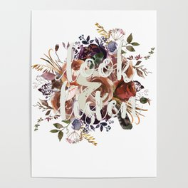 Look & Listen Floral Poster