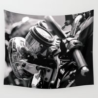 moto Wall Tapestries featuring moto by Farkas B. Szabina