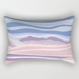 Mountain Scape // Abstract Desert Landscape Red Rock Canyon Sky Clouds Artistic Brush Strokes Rectangular Pillow