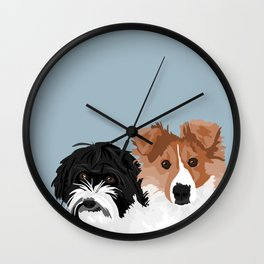 Reba and Ruby Wall Clock