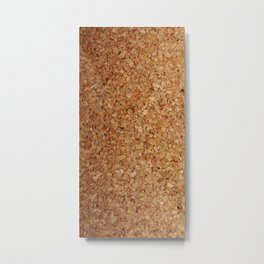 Towel thick Cork imitation Metal Print