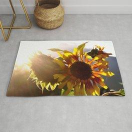 salute to the Sun as a sunflower Rug