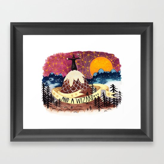 And a wizard Framed Art Print