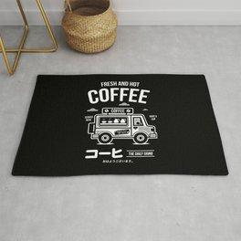 Fresh and Hot Coffee Food Truck Rug