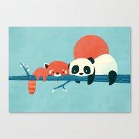 pandas Canvas Prints featuring Pandas by Jay Fleck